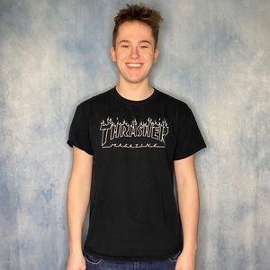 Thrasher Skating Shirt Black and White Colorway